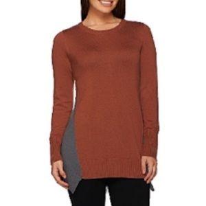 LOGO by Lori Goldstein Cotton Cashmere Sweater